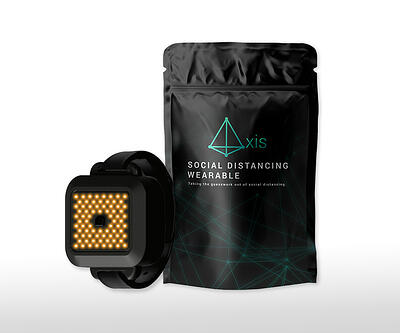 Axis social distancing wristband