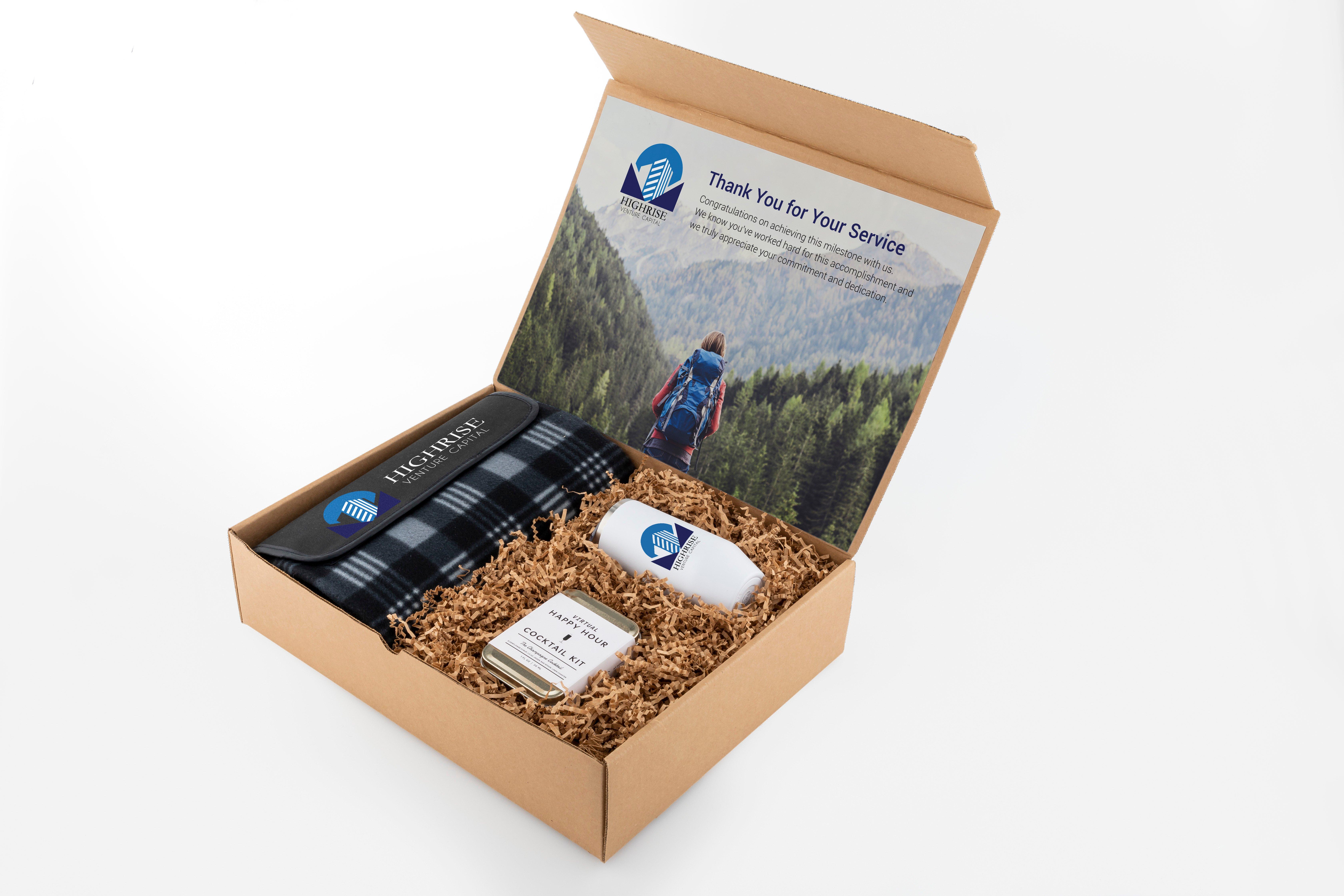 Employee anniversary gift box