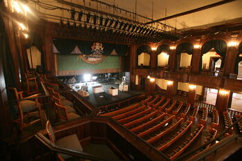 Theatre seating in the Dock Street Theatre