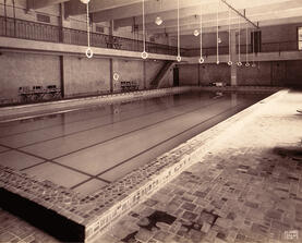 Abandoned pool at the old Eagles Club