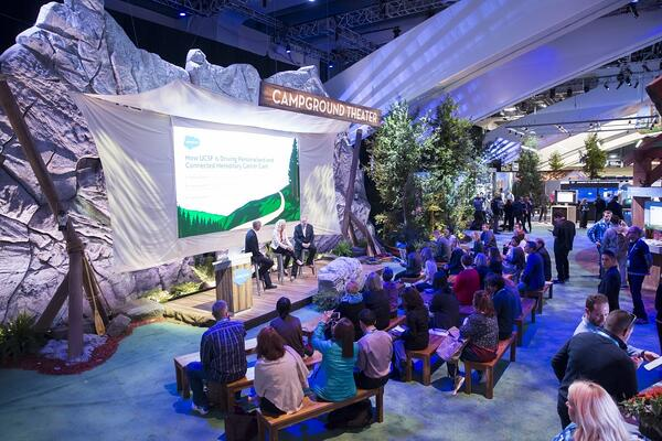 Interactive theatre seating at Salesforce's 2019 Dreamforce event