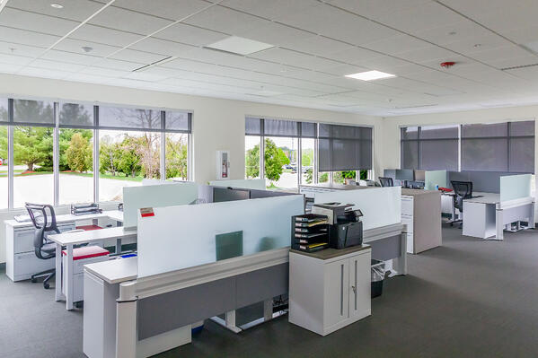 solar shades in pc/nametag office facility