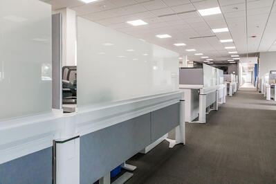 LED lights in pc/nametag office facility