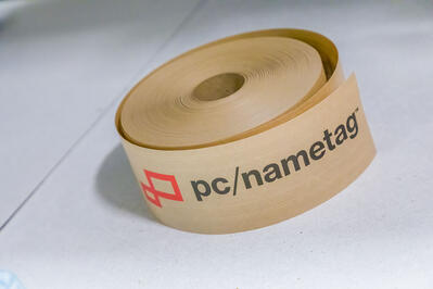 pc/nametag paper-based packing tape