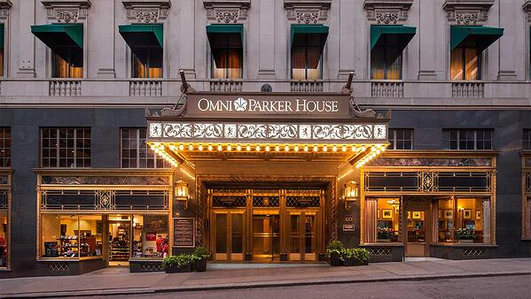 Exterior of the Omni Parker House Hotel