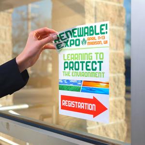 Repositionable Door Event Signage