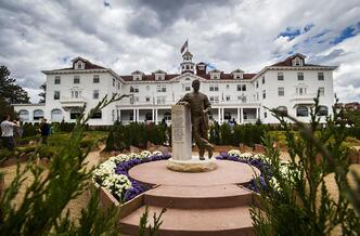 The garden at the Stanley Hotel