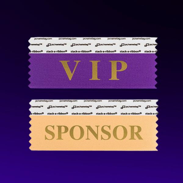 VIP and sponsor badge ribbons by pcnametag