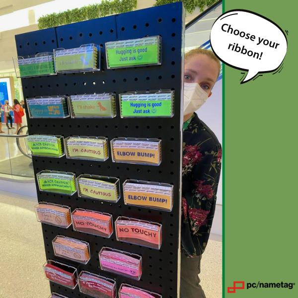 choose your pcnametag badge ribbon - display