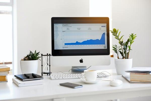 computer with SEO analytics
