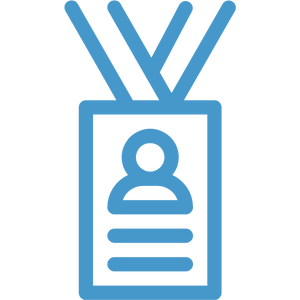 event attendee badge icon