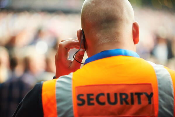 event security personnel manage crowds