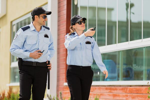 event security team patrols the venue