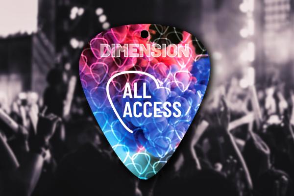 guitar pick premier event badge