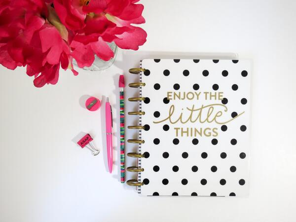 Planner with positive message