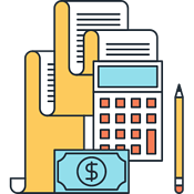 tax deductible event expenses icon