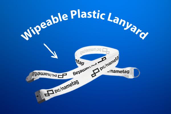 wipeable lanyard